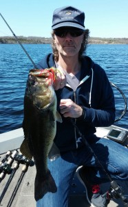Nice Spring Bass Caught on a Hawgstomper Thunder Jig